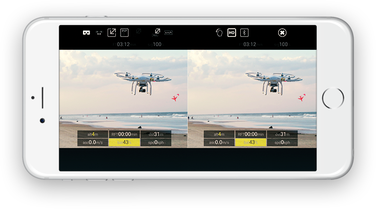 The FPV app for your DJI drone